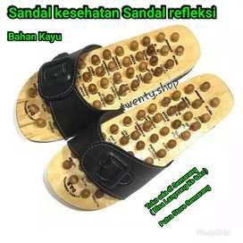 Sendal kesehatan sandal rematik Saldal Refleksi Sandal kayu