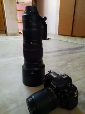 Nikon d500 with 200-500nikkor and 18-140