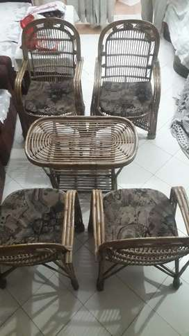 Wooden set of Chair and Tabel with Gaddi