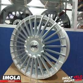 Velg mobil racing Jazz ring 17 HSR wheel Amarasi baut 4x100 & 4x114,3