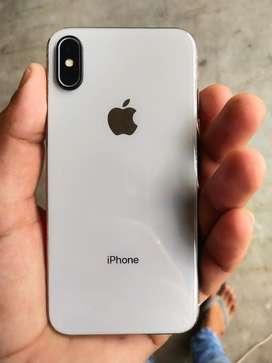 Iphone x white 64 gb 8 months warrenty