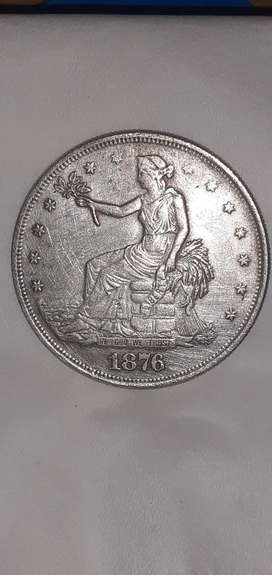 Uang koin TRADE DOLLAR US OF AMERICA 1876