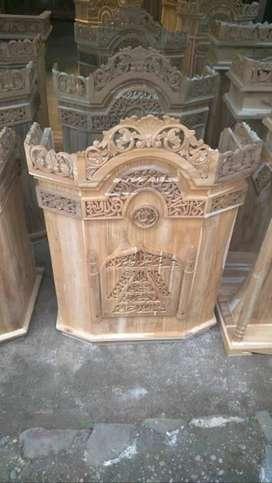 Mimbar Kayu Jati Nofinishing Mimbar Masjid SLM74