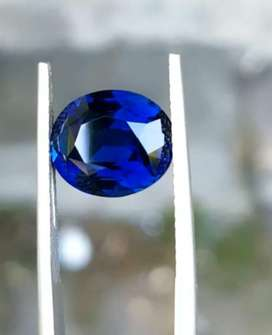 Natural Peacock Blue Safir Ceylon No Heat Eye Clean Item Kolektor