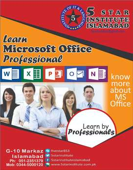 Ms Office Professional Course with 5 STAR INSTITUTE ISLAMABAD, G-10