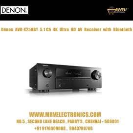 Denon AVR - X250BT 5.1 Ch. 4K Ultra HD AV Receiver with Bluetooth