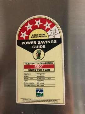 4 star, efficient 500 ltr samsung fridge