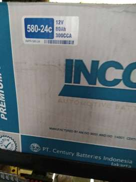 DIN58024  80Ah INCOE aki Blazer Fortuner innova Reborn