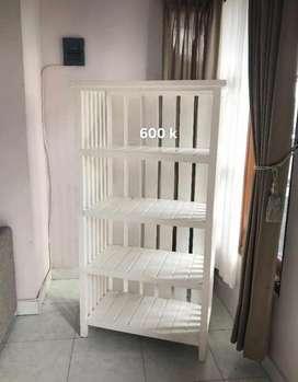 rak / rak kayu / rak buku / rak baju / rak kayu minimalist / meja