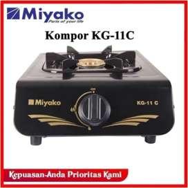 Miyako Kompor Gas 1 Tungku KG 11C Warna Hitam Elegan KG-11C