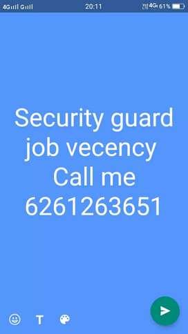 Security guard job vecency