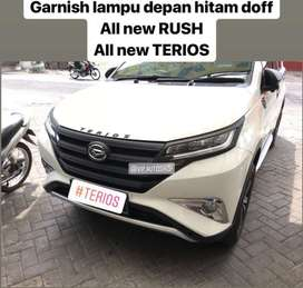 Garnish Lampu Depan Headlamp Hitam Doff All New RUSH TERIOS