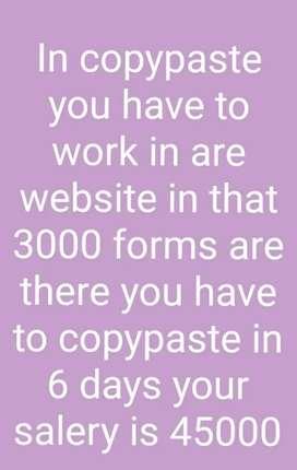 Copy paste mobile work