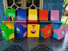 mainan styrofoam gabus 1 paket warna warni