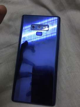 Note 9 128 gb no fult only front panel crack
