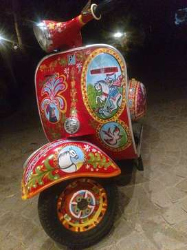 Oil Painting on SCOOTER