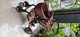 Belecoo stroller original brown gold frame