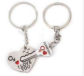 New Couple I LOVE YOU Heart Keychain Ring Keyring Gift