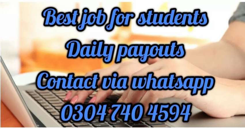 Typing job at home for students on daily bases.438 0