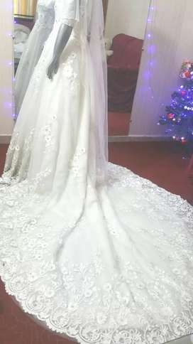 Long Tail reet Veil, Barbie Doll Ball Gown Available for Rent