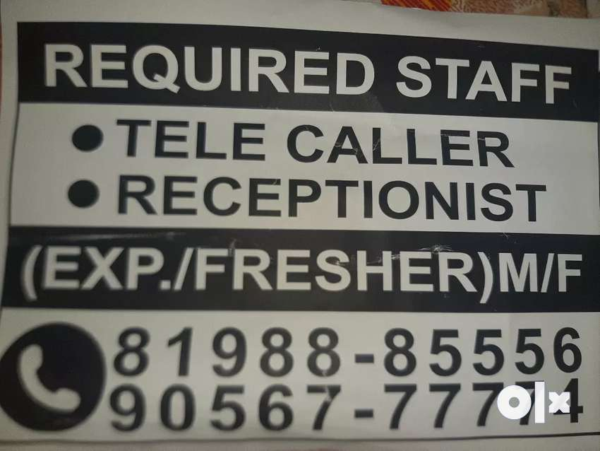 Required staff  tele caller (Exp./fresher)m/f 0