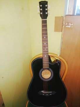 acostic black guitar