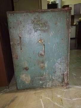An antique safe,locker,tijori