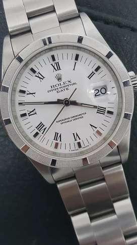 Rolex Men SS Date Putih Romawi dial