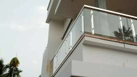 Staircase handrail and balcony