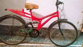 Bicycle in a very good condition and red color