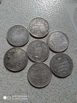 George, Victoria charminar silver coins