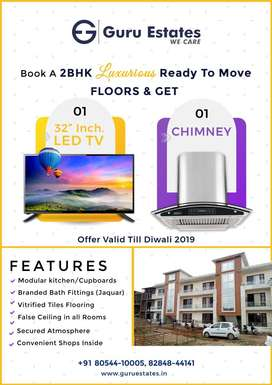 Diwali Offer- 2 Bhk Flat Ready To Move - 25.90 Lac