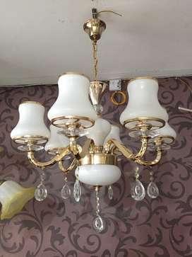 Lampu gantung cabang hias mewah minimalis modern ruang tamu