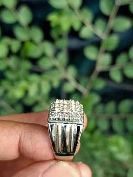 Berlian Cantik Ring Perak