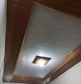Plafon PVC terpasang