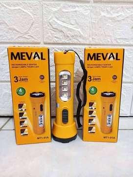 PROMO FREE DIANTAR YK-MEVAL MT1-01A SENTER LED+LAMPU TIDUR PUTIH DICAS