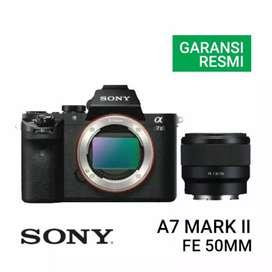 Sony A7 Mark II Kit FE 50mm Cicil Tanpa Kartu Credit Di Plaza Kamera