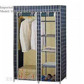 Portable fabric Wardrobe 2 Door iron & fabric, Designs for tomorrow, D