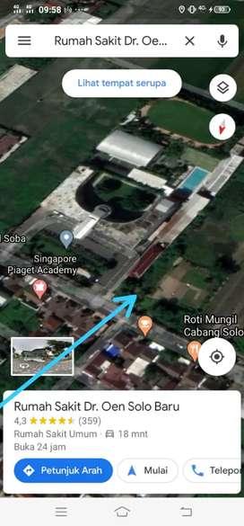 Tanah SHM Luas 1,2 ha Gedangan Solo Baru Grogol Sukoharjo (Dekat Solo)