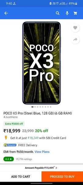 Poco x3 pro 6/128 gb gaming beast sealed pack