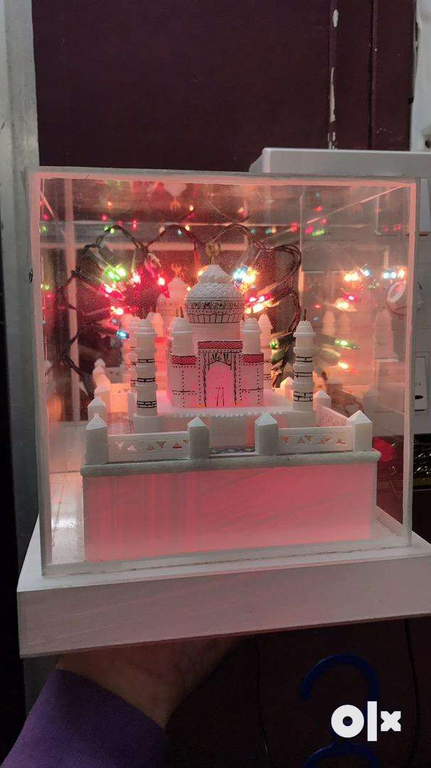 New Brand Marble Taj Mahal With Colorful Led Lights, 0