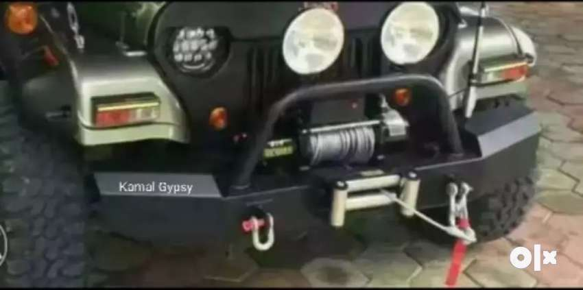 Off road bumper with winch plate 0
