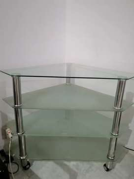 TV trolley glass made