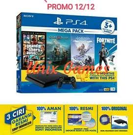 PS4 Slim 1tb New Garansi resmi Sony indonesia