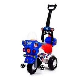 Mainan Anak MOTOR POLISI SEPEDA ANAK RODA 3 DORONG SPM 626 MT