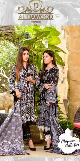 *THREE STAR * *Black & White* Lawn Collection 2020 By Al-Dawood