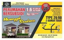 Rumah Subsidi 2 Kamar Tidur Mesanggok Residence Desain Mewah