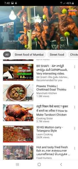Chef in chicken making