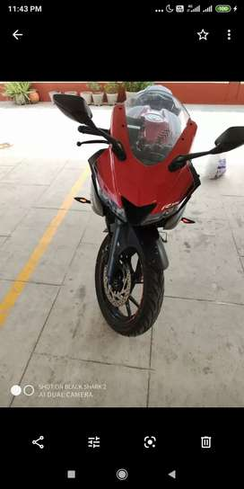 It's a new Yamaha R15 V3 just 4500 KM's driven .