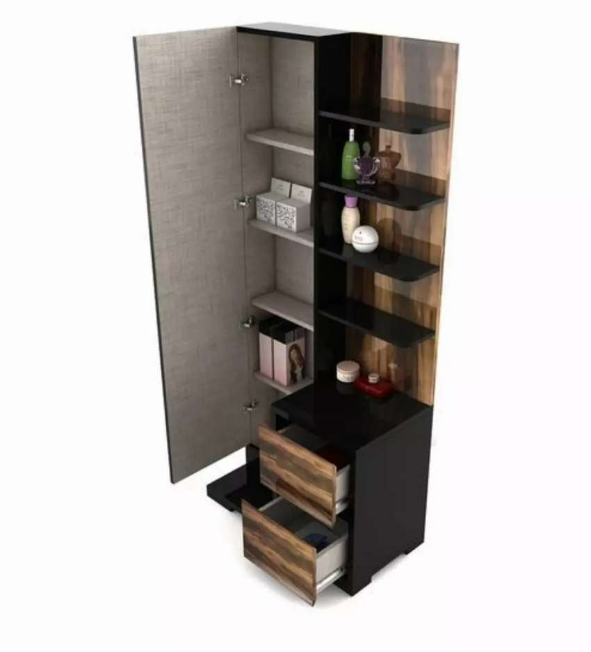 New arrival dressing table with shelves full mirror doors best quality